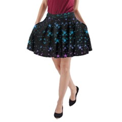 Stars Pattern A Line Pocket Skirt