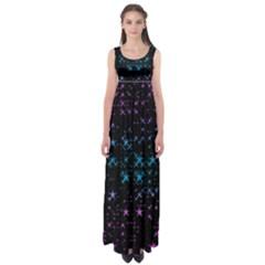 Stars Pattern Empire Waist Maxi Dress