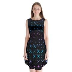 Stars Pattern Sleeveless Chiffon Dress