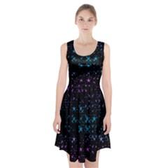 Stars Pattern Racerback Midi Dress