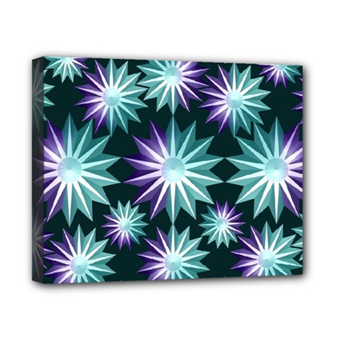 Stars Pattern Christmas Background Seamless Canvas 10  X 8