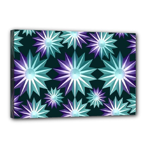Stars Pattern Christmas Background Seamless Canvas 18  x 12