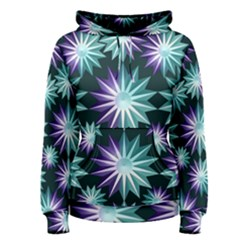 Stars Pattern Christmas Background Seamless Women s Pullover Hoodie