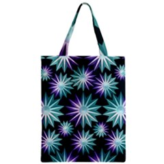 Stars Pattern Christmas Background Seamless Zipper Classic Tote Bag