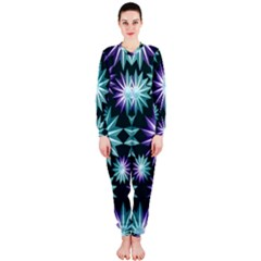 Stars Pattern Christmas Background Seamless OnePiece Jumpsuit (Ladies)