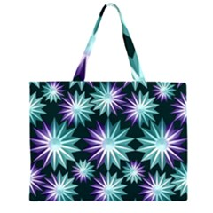 Stars Pattern Christmas Background Seamless Large Tote Bag