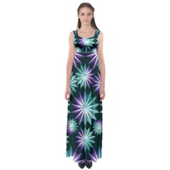 Stars Pattern Christmas Background Seamless Empire Waist Maxi Dress