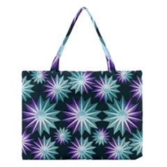 Stars Pattern Christmas Background Seamless Medium Tote Bag