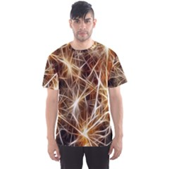 Star Golden Christmas Connection Men s Sport Mesh Tee