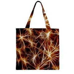 Star Golden Christmas Connection Zipper Grocery Tote Bag