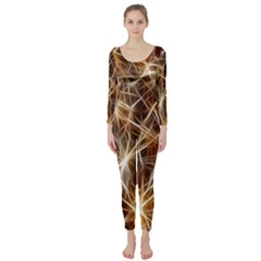 Star Golden Christmas Connection Long Sleeve Catsuit