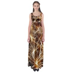 Star Golden Christmas Connection Empire Waist Maxi Dress