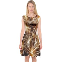 Star Golden Christmas Connection Capsleeve Midi Dress