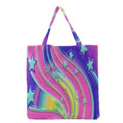 Star Christmas Pattern Texture Grocery Tote Bag
