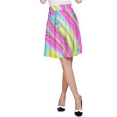 Star Christmas Pattern Texture A Line Skirt