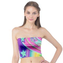 Star Christmas Pattern Texture Tube Top