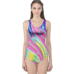 Star Christmas Pattern Texture One Piece Swimsuit