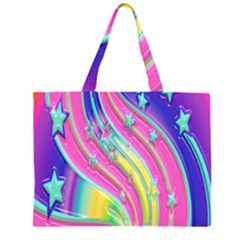 Star Christmas Pattern Texture Large Tote Bag