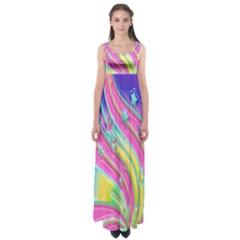 Star Christmas Pattern Texture Empire Waist Maxi Dress