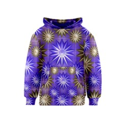 Stars Patterns Christmas Background Seamless Kids  Pullover Hoodie
