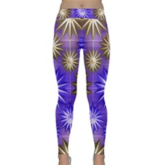 Stars Patterns Christmas Background Seamless Classic Yoga Leggings