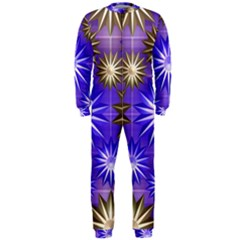 Stars Patterns Christmas Background Seamless OnePiece Jumpsuit (Men)