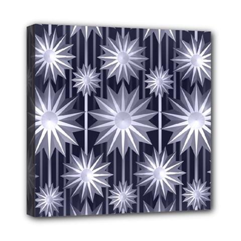 Stars Patterns Christmas Background Seamless Mini Canvas 8  x 8