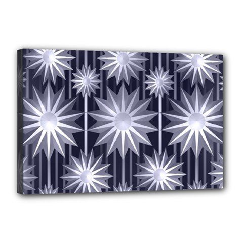 Stars Patterns Christmas Background Seamless Canvas 18  x 12