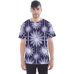 Stars Patterns Christmas Background Seamless Men s Sport Mesh Tee