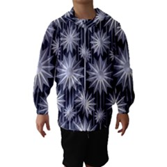 Stars Patterns Christmas Background Seamless Hooded Wind Breaker (Kids)