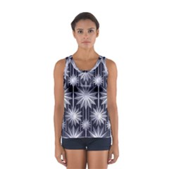 Stars Patterns Christmas Background Seamless Women s Sport Tank Top