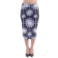 Stars Patterns Christmas Background Seamless Midi Pencil Skirt