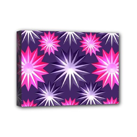 Stars Patterns Christmas Background Seamless Mini Canvas 7  x 5