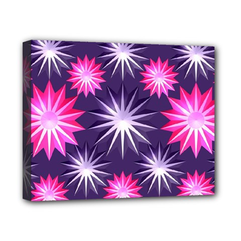 Stars Patterns Christmas Background Seamless Canvas 10  x 8