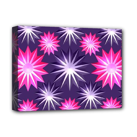 Stars Patterns Christmas Background Seamless Deluxe Canvas 16  x 12