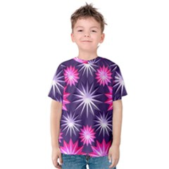 Stars Patterns Christmas Background Seamless Kids  Cotton Tee