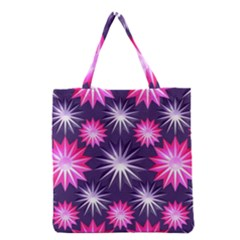 Stars Patterns Christmas Background Seamless Grocery Tote Bag