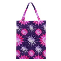 Stars Patterns Christmas Background Seamless Classic Tote Bag