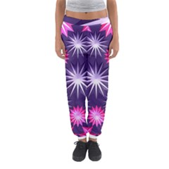 Stars Patterns Christmas Background Seamless Women s Jogger Sweatpants