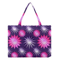Stars Patterns Christmas Background Seamless Medium Tote Bag