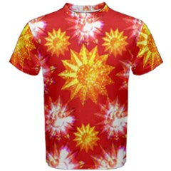 Stars Patterns Christmas Background Seamless Men s Cotton Tee