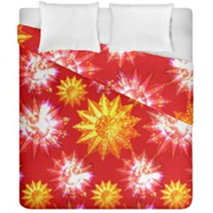 Stars Patterns Christmas Background Seamless Duvet Cover Double Side (california King Size)
