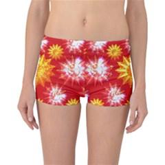 Stars Patterns Christmas Background Seamless Reversible Bikini Bottoms