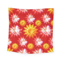 Stars Patterns Christmas Background Seamless Square Tapestry (small)