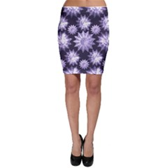 Stars Patterns Christmas Background Seamless Bodycon Skirt