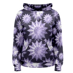 Stars Patterns Christmas Background Seamless Women s Pullover Hoodie