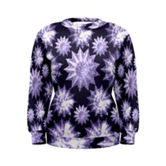 Stars Patterns Christmas Background Seamless Women s Sweatshirt