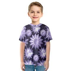 Stars Patterns Christmas Background Seamless Kids  Sport Mesh Tee