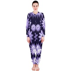 Stars Patterns Christmas Background Seamless OnePiece Jumpsuit (Ladies)