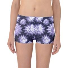 Stars Patterns Christmas Background Seamless Boyleg Bikini Bottoms
